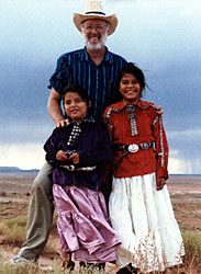 ray swanson with navajo children